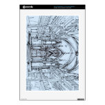 Renaissance gothic Orensanz drawing in blue PS3 Console Skins