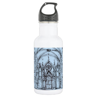 Renaissance gothic Orensanz drawing in blue Water Bottle