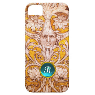 RENAISSANCE GROTESQUE FACE , GOLD FLORAL MONOGRAM iPhone 5 COVERS