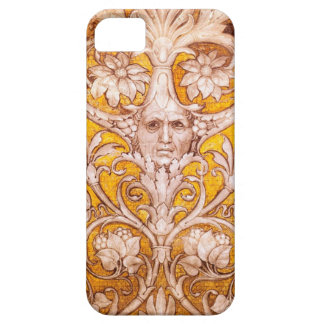 RENAISSANCE GROTESQUE FACE WITH GOLD WHITE FLORAL iPhone SE/5/5s CASE