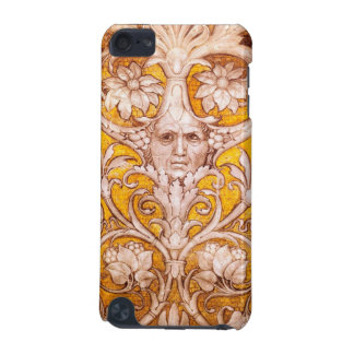 RENAISSANCE GROTESQUE FACE WITH GOLD WHITE FLORAL iPod TOUCH (5TH GENERATION) CASE