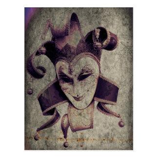 Renaissance Joker on Stone Postcard