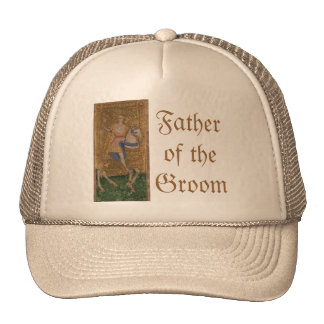 Renaissance Knight and Lady Grooms Wedding Trucker Hat
