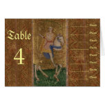Renaissance Knight and Lady Wedding Seating Chart Stationery Note Card