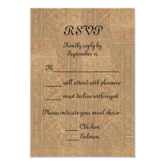 Renaissance Lady and Knight Medieval Wedding RSVP 3.5x5 Paper Invitation Card