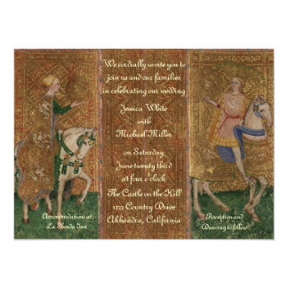 Renaissance Lady and Knight Wedding 5.5x7.5 Paper Invitation Card
