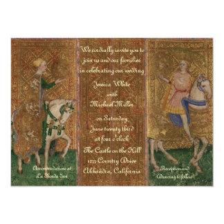 Renaissance Lady and Knight Wedding Card