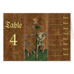 Renaissance Lady and Knight Wedding Seating Chart Stationery Note Card