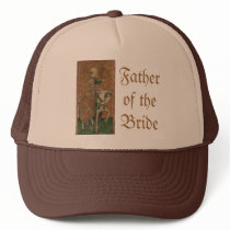 Renaissance Lady and Knight Wedding Trucker Hat