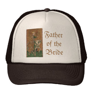 Renaissance Lady and Knight Wedding Trucker Hat