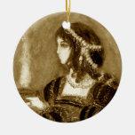 Renaissance lady christmas ornament