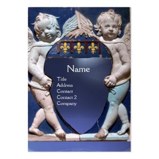 RENAISSANCE LITTLE ANGELS MONOGRAM Blue Topaz Large Business Card