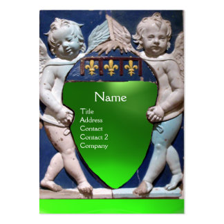 RENAISSANCE LITTLE ANGELS MONOGRAM Green Emerald Business Card