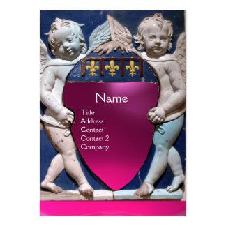 RENAISSANCE LITTLE ANGELS MONOGRAM Pink  Amethyst Business Cards