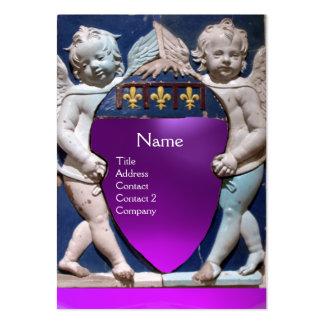 RENAISSANCE LITTLE ANGELS MONOGRAM Purple Amethyst Business Cards