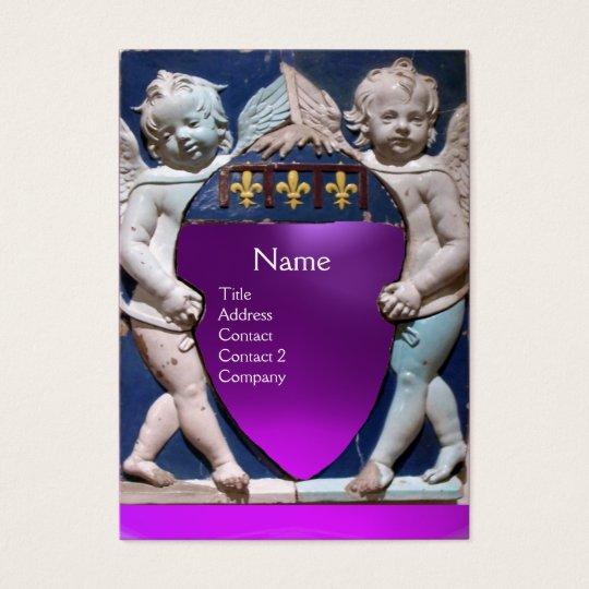 RENAISSANCE LITTLE ANGELS MONOGRAM Purple Amethyst Business Card