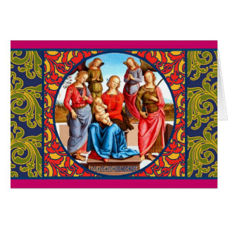 Renaissance Madonna and Child Card