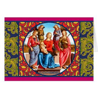 Renaissance Madonna and Child Card