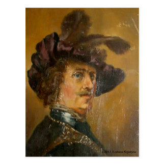RENAISSANCE MAN OIL PORTRAIT POSTCARD