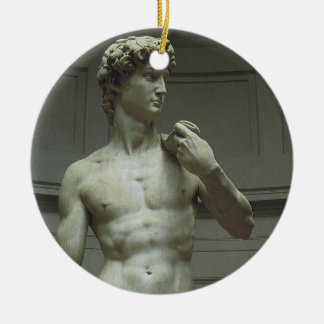 Renaissance Marble Statue of David by Michelangelo Christmas Tree Ornament