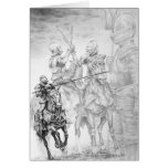 Renaissance Medieval Knight Art by Kelli Swan Greeting Cards