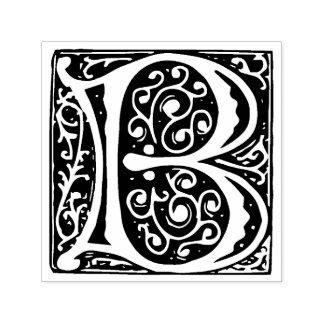 Renaissance Medieval Letter B Monogram Self-inking Stamp