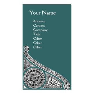 RENAISSANCE Monogram 1 blue green Business Card Template
