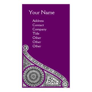 RENAISSANCE Monogram 1 purple Business Card
