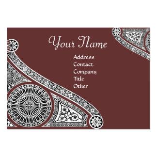 RENAISSANCE Monogram 2 red brown Business Card Templates