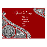 RENAISSANCE MONOGRAM 2 red Large Business Cards (Pack Of 100)