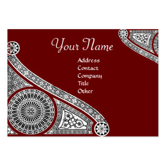 RENAISSANCE MONOGRAM 2 red Large Business Card