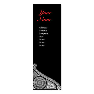 RENAISSANCE MONOGRAM 3 Double-Sided MINI BUSINESS CARDS (Pack OF 20)
