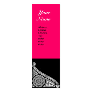 RENAISSANCE MONOGRAM pink Double-Sided Mini Business Cards (Pack Of 20)