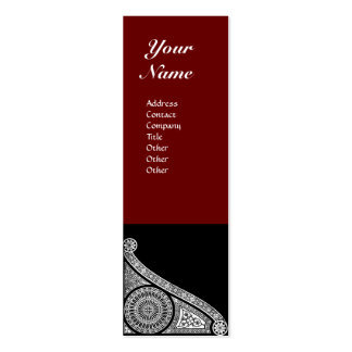 RENAISSANCE MONOGRAM  red brown Double-Sided Mini Business Cards (Pack Of 20)