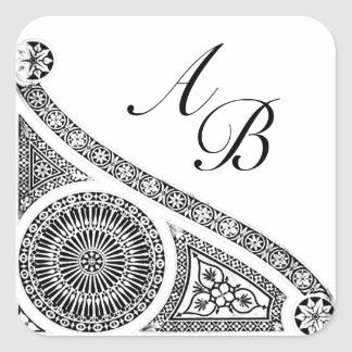 RENAISSANCE MONOGRAM SQUARE STICKER