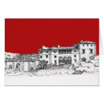 Renaissance museum red stationery note card