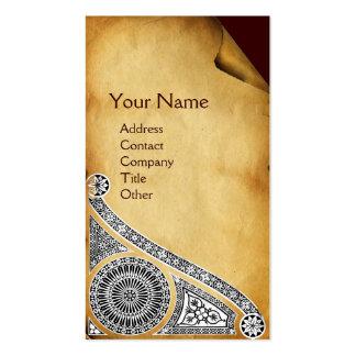RENAISSANCE  Parchment Monogram 1 Double-Sided Standard Business Cards (Pack Of 100)