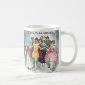 Renaissance People Vintage Christmas Coffee Mugs