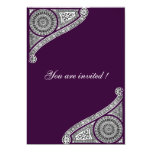 RENAISSANCE ,purple Invitations