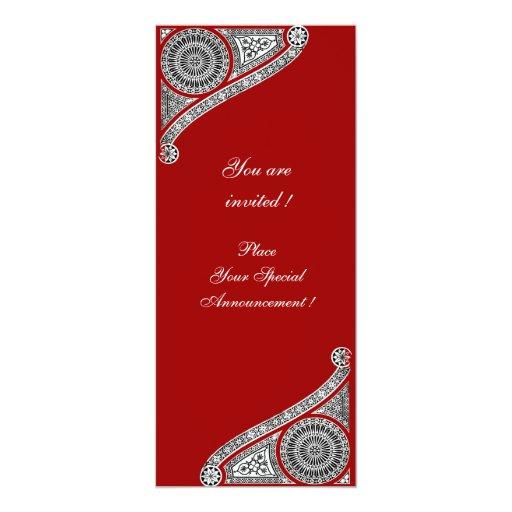 RENAISSANCE ,red Personalized Invite
