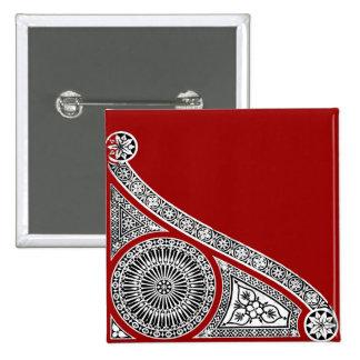 RENAISSANCE red Pinback Button
