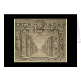 Renaissance Stage Design Stationery Note Card