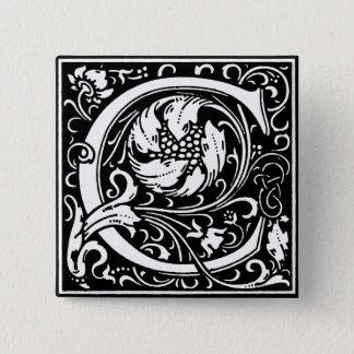 Renaissance Style Alphabet Letter C - Pin