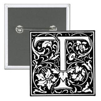Renaissance Style Alphabet Letter T - Pin