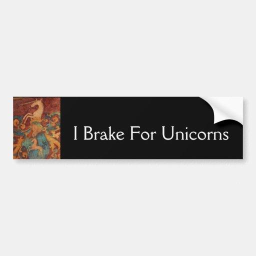 Renaissance Unicorn art Car Bumper Sticker