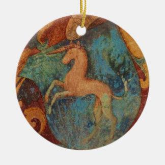 Renaissance Unicorn art Ceramic Ornament