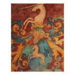 Renaissance Unicorn art Customized Letterhead