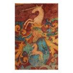 Renaissance Unicorn art Stationery Design