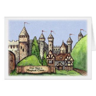 Renaissance Village Painting Card
