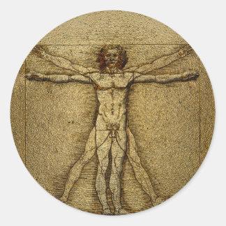 Renaissance Vitruvian Man 3D RSVP Round Seals